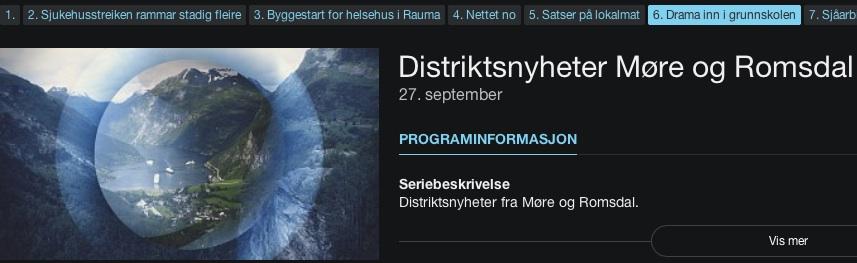 Klikk på bildet for å se film fra aksjonen på Kolvikbakken ungdomsskole (Ålesund)
